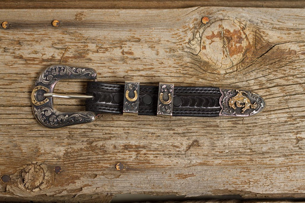 Bargain Barn- Bucking Horse 1 Inch Buckle Set