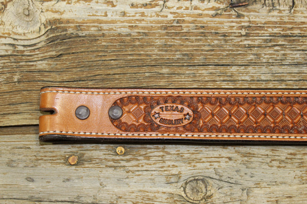Bargain Barn - Saddle Tan Waffle Belt