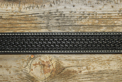 Bargain Barn - Black Basket Stamp Belt