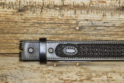 Bargain Barn - Black Spider Stamp Belt