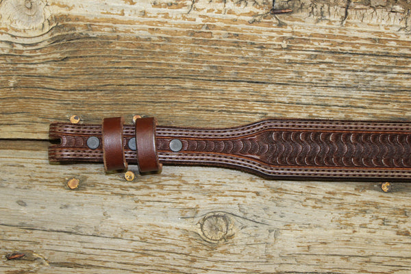 Chocolate Spider Stamp Tapered Belt