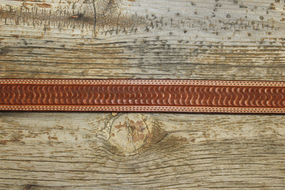 Saddle Tan Swirl Belt