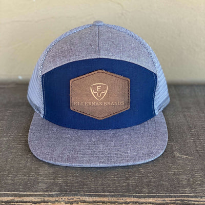 Royal Blue & Heather Grey Ellerman Brands Trucker Cap