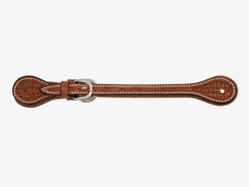 "Spur Strap 5/8"" Golden Harness with Spider Stamp"