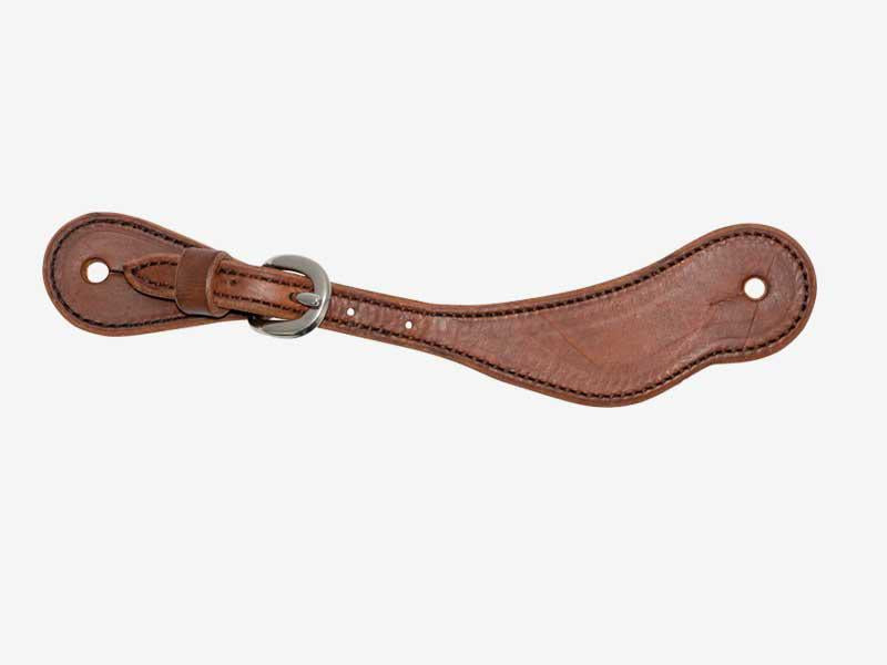 Youth Brown Harness Cowboy Spur Straps