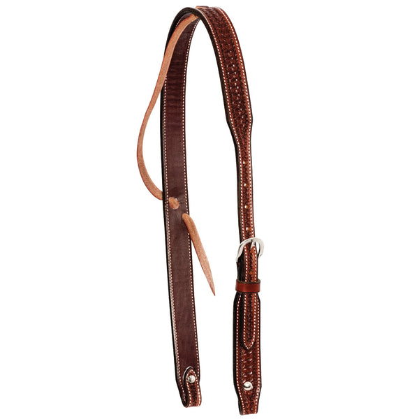 1-1/4'' Rosewood Spider Stamped Ear Headstall