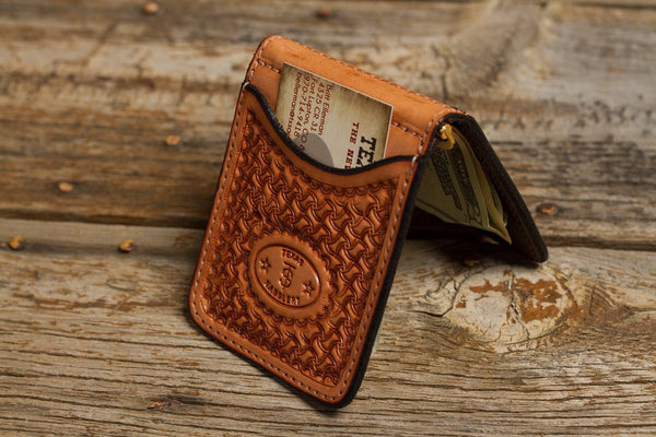 Bargain Barn- Saddle Tan Spider Money Clip