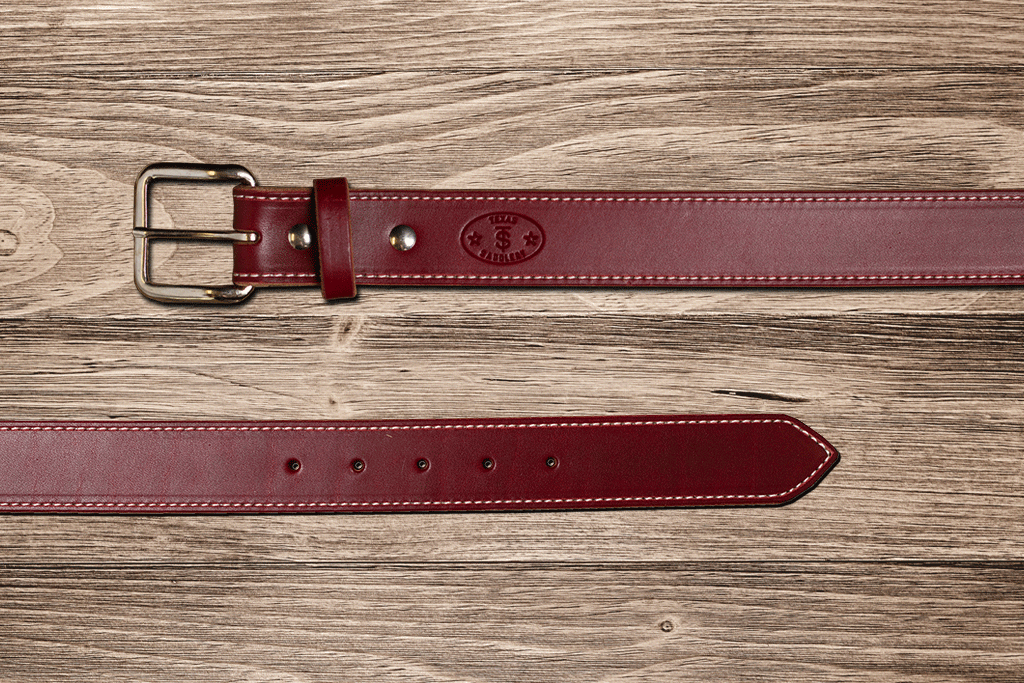 Burgundy Latigo Belt