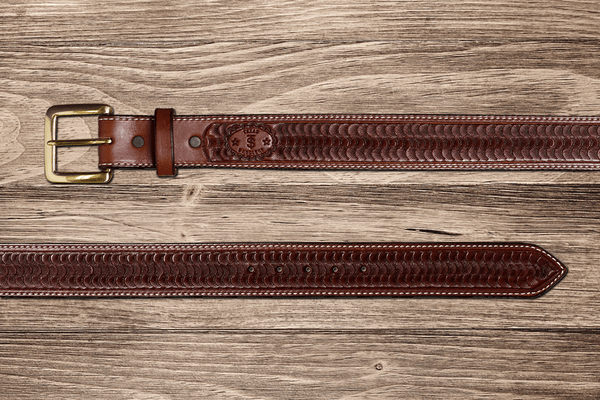 Western Chocolate Swirl Belt
