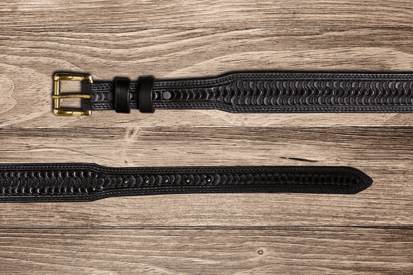 Swirl Black Tapered Belt