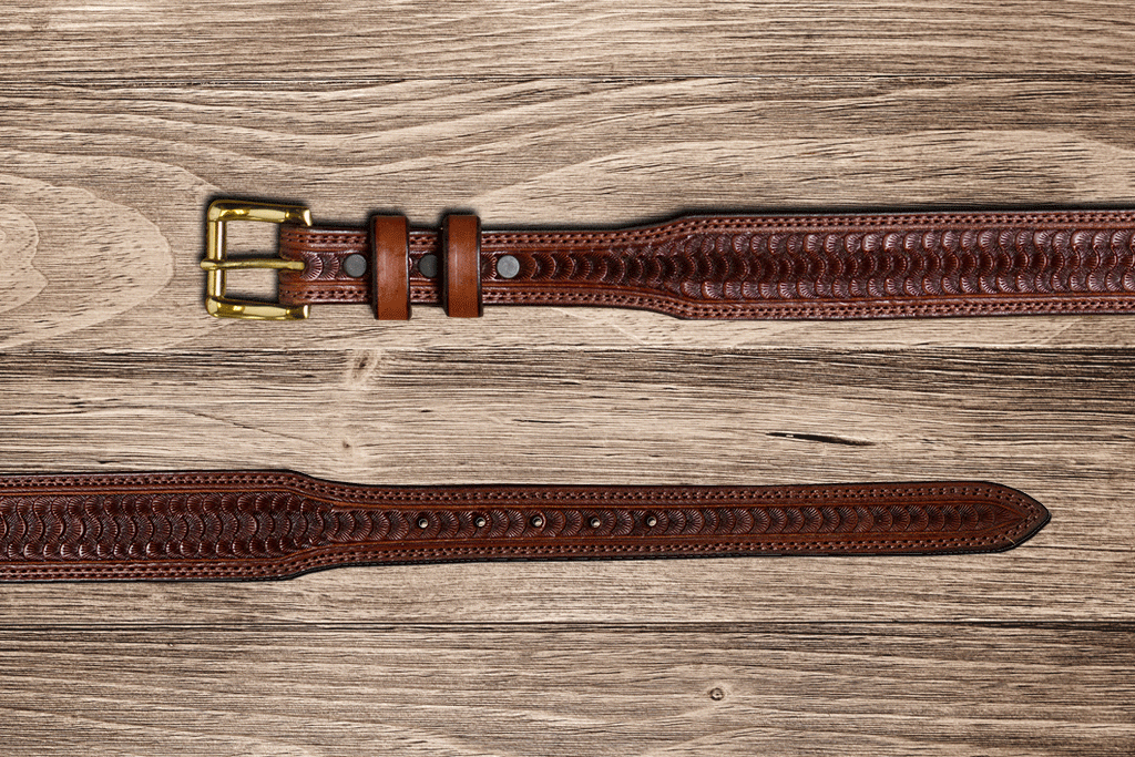 Chocolate Swirl Tapered Belt