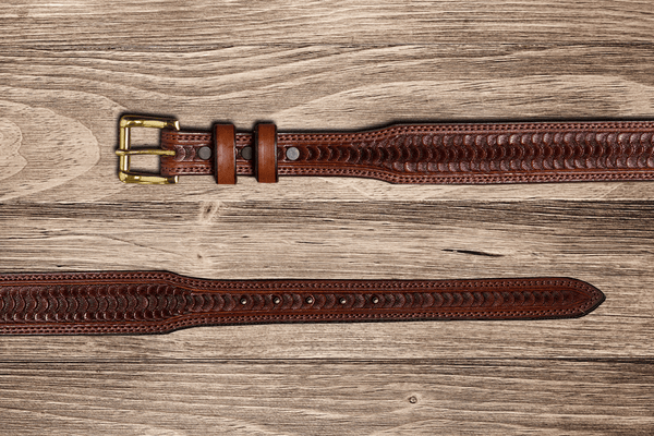 Bargain Barn - Chocolate Swirl Tapered Belt