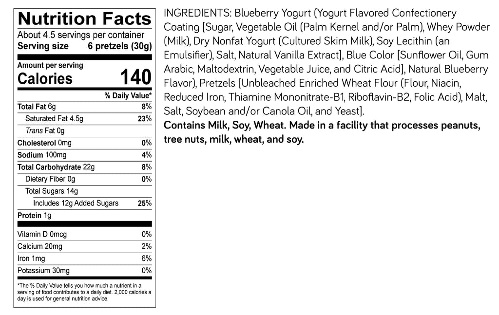 Blueberry Yogurt Pretzels – 3 pack, 4.5oz SUR bags