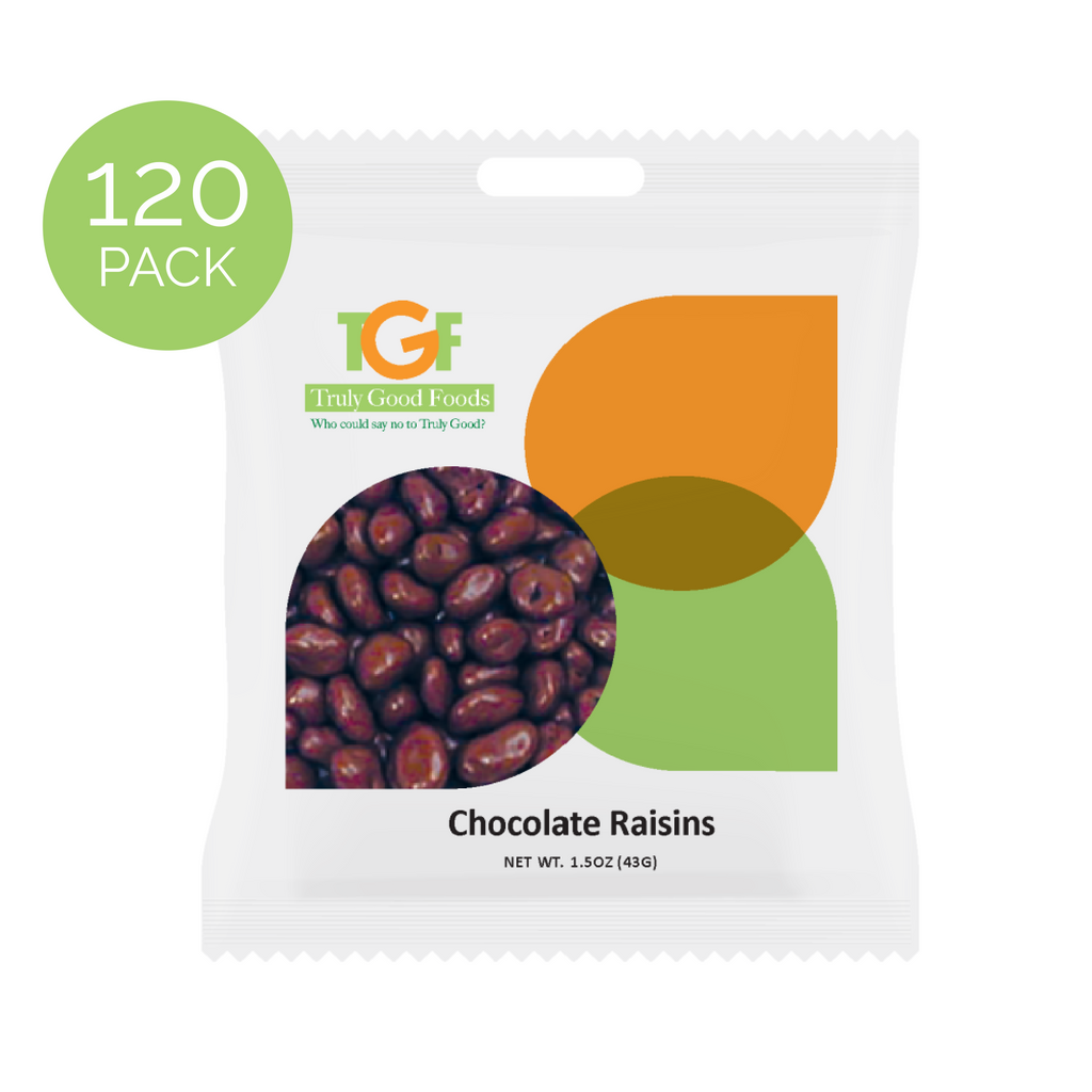 Chocolate Raisins – 120 pack, 1.5oz mini snack bags