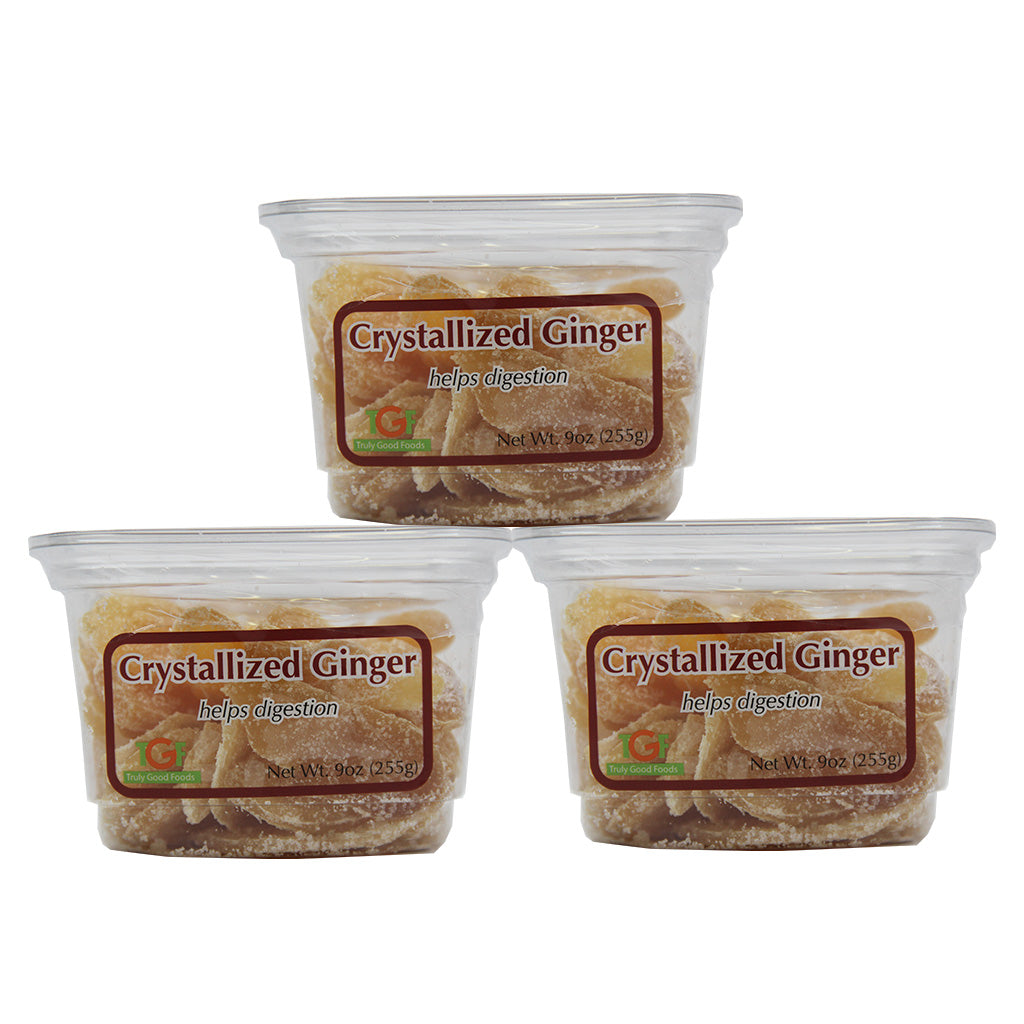 Crystallized Ginger – 3 pack, 9oz cubes