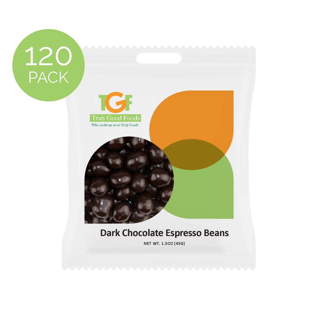 Dark Chocolate Espresso Beans – 120 pack, 1.5oz mini snack bags