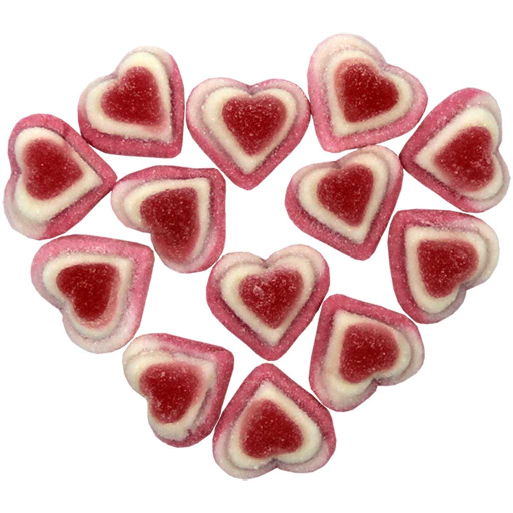 Gummy Triple Hearts - 1lb bag