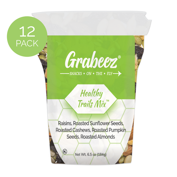 Healthy Trails Mix™ – 12 pack, 6.5oz each Grabeez® Snack Cups