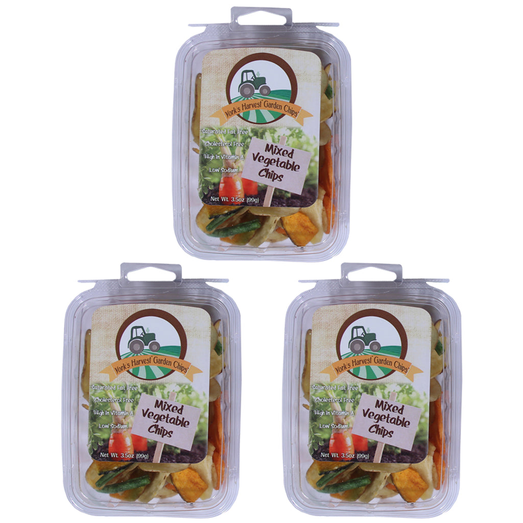 Garden Chips™, Mixed Vegetable Chips – 3 pack, 3.5oz trays