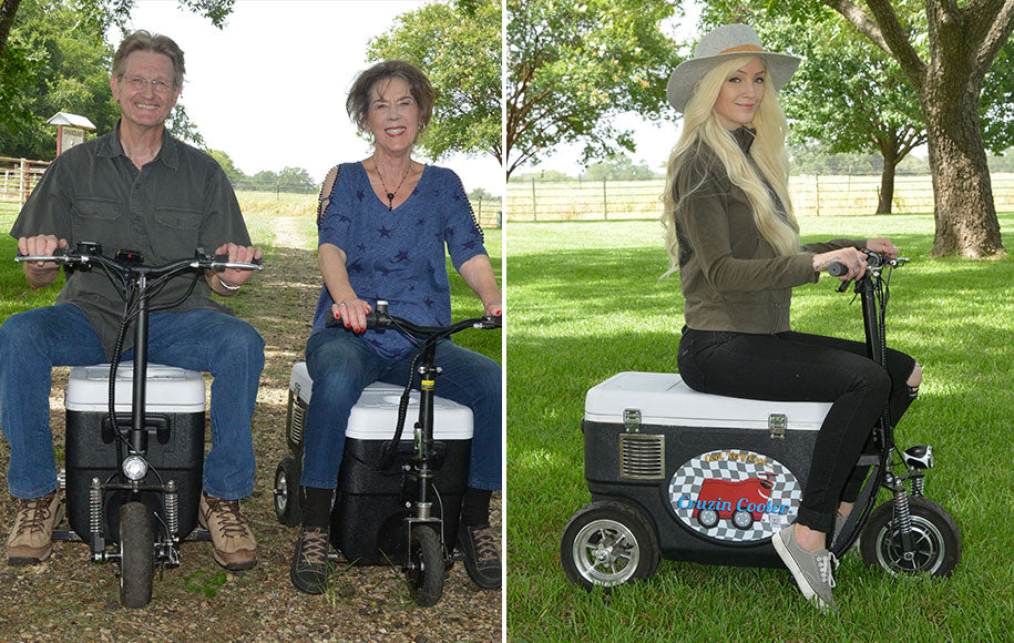 Cruzin Cooler Sport-X Motorized Ice Chest Cooler Scooter!