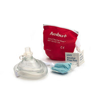 Kemp USA Ambu CPR Mask In Red Pouch