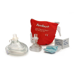 Kemp USA Ambu CPR Mask Combo Adult & Child In Soft Pouch