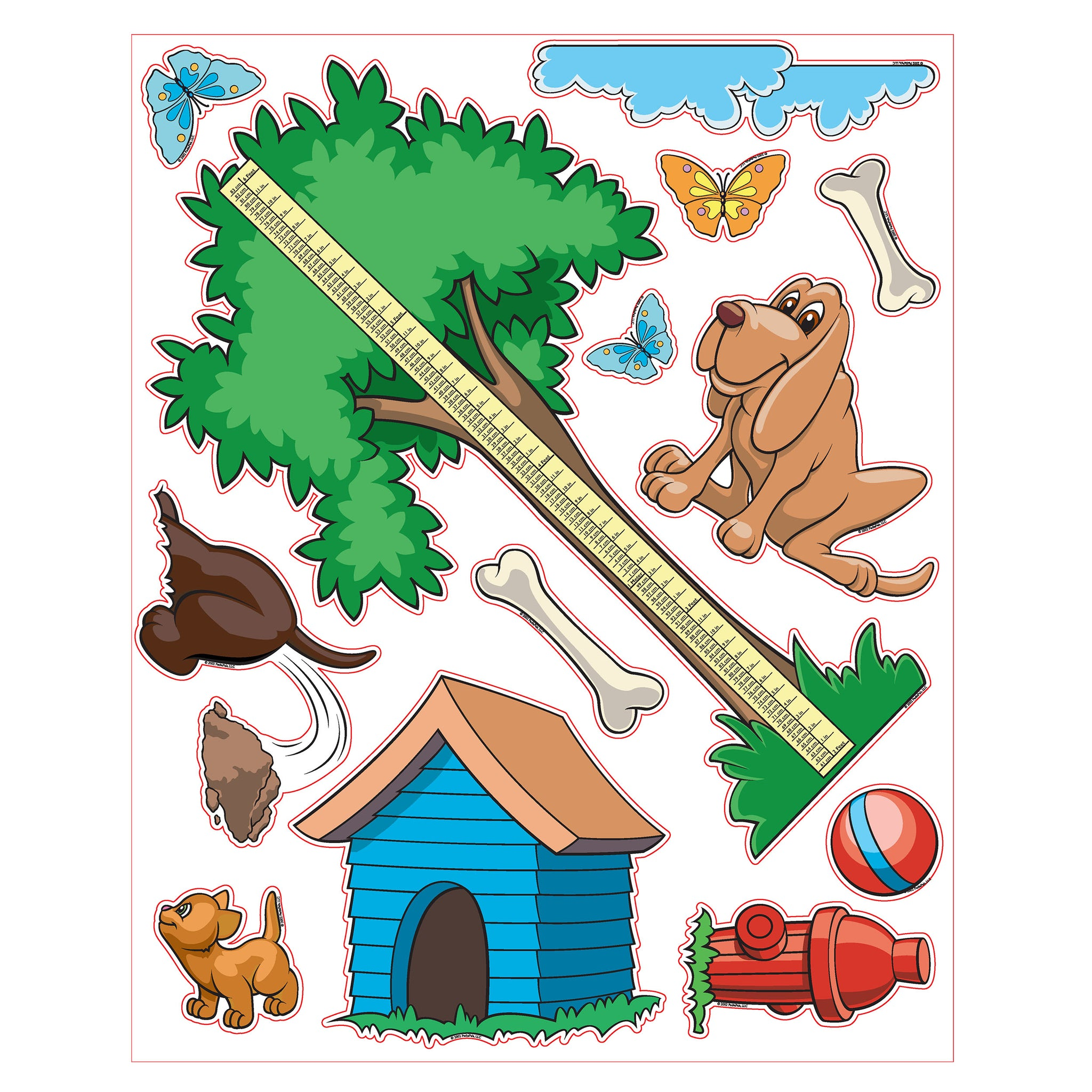 Pedia Pals Pediatric Puppy Theme Decal Kit