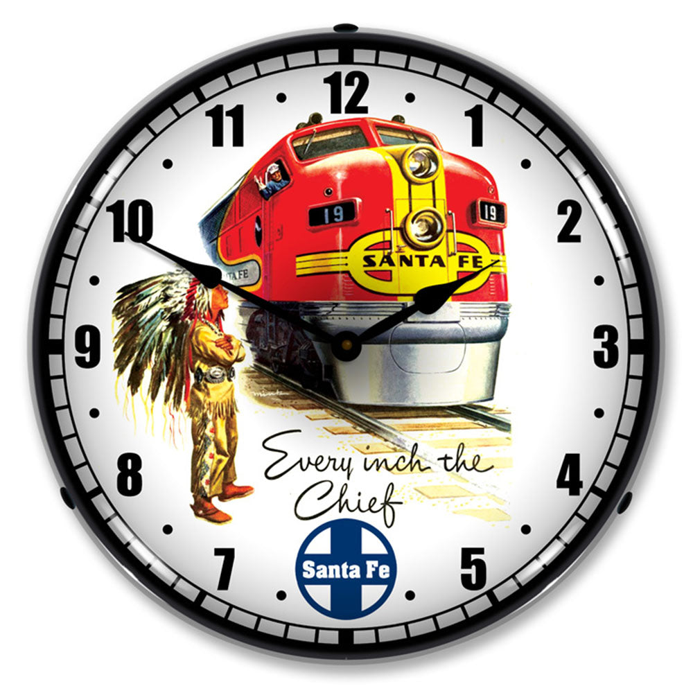 "Sante Fe ""Every Inch with Chief"" 14"" LED Wall Clock"