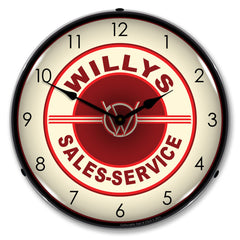 "Willys Sales and Service 14"" LED Wall Clock"