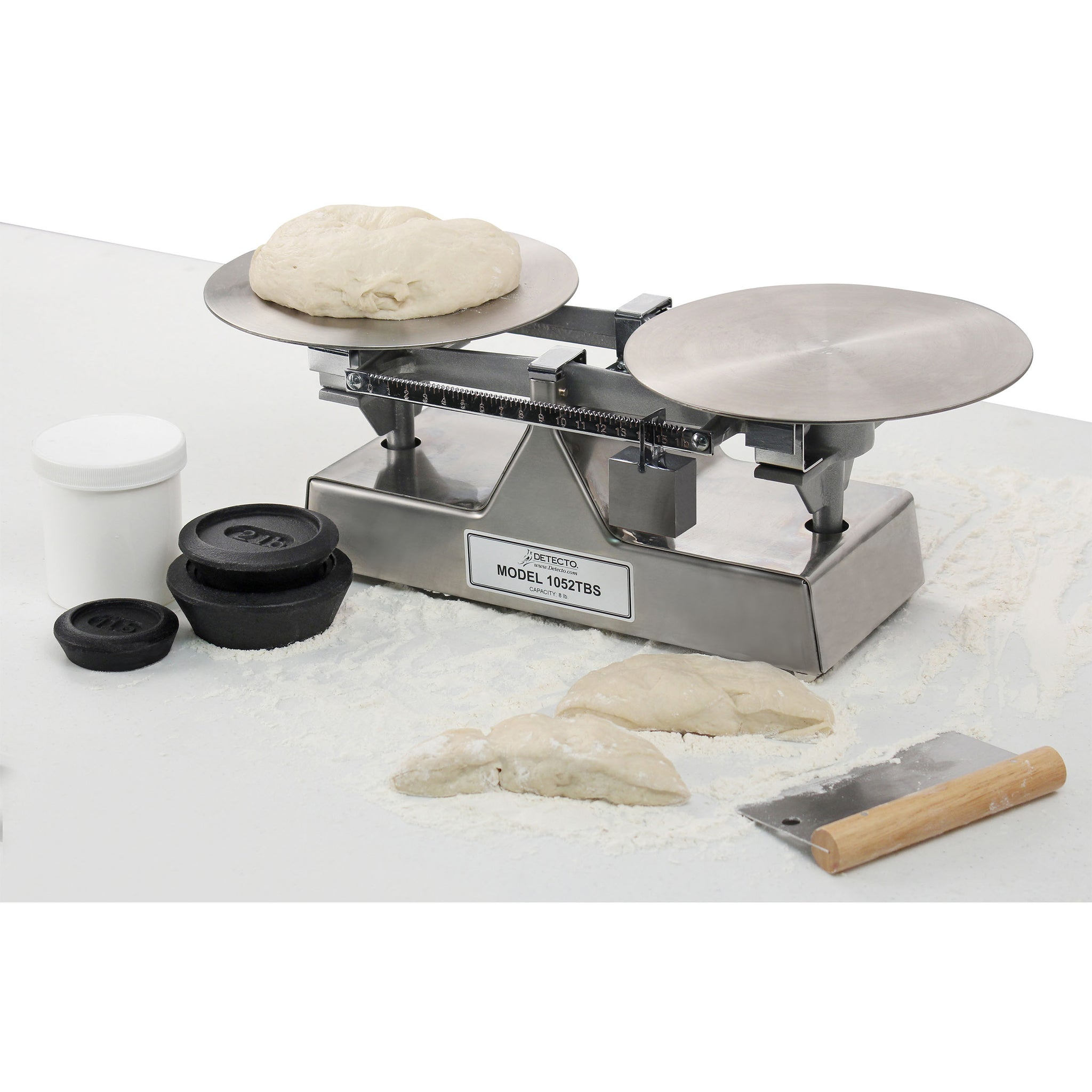 Detecto Mechanical Stainless Steel Baker Dough Scale with Scoop