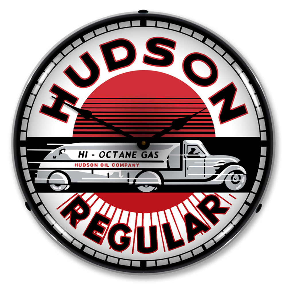 "Hudson Regular Hi-Octane Gas 14"" LED Wall Clock"