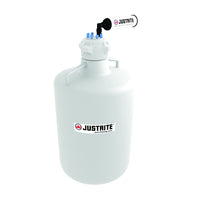 "Justrite VaporTrap™ Carboy with Filter Kit, 20L RND HDPE, 83mm Cap, 6 Ports 1/8"" OD Tubing"