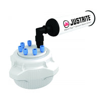 Justrite VaporTrap™ Cap with Filter Kit, 83mm Cap, 6 Ports 1/8'' OD Tubing
