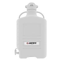 Justrite Carboy, High-Density Polyethylene (HDPE), 120 mm Cap, With Spigot