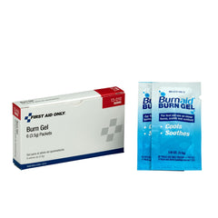 First Aid Only Burn Gel, 6 Per Box