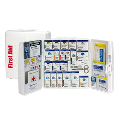 First Aid Only 50 Person Large Plastic Smart Compliance Food Service Cabinet Without Medications