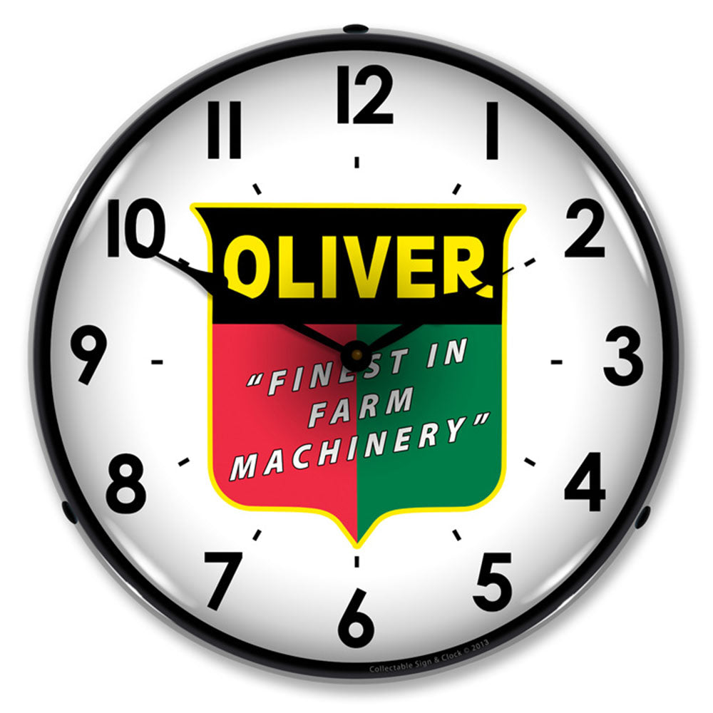 "Oliver ""Finest in Farm Machinery"" 14"" LED Wall Clock"