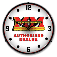 "Minneapolis Moline Authorized Dealer 14"" LED Wall Clock"