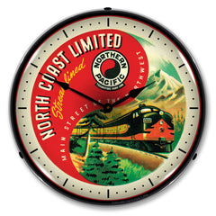 "Northern Pacitic North Coast Limited 14"" LED Wall Clock"