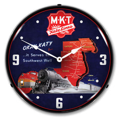 "MKT Katy Lines 14"" LED Wall Clock"