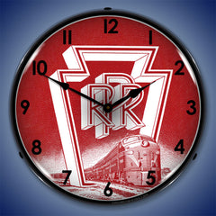 "Pennsylvania Railroad 14"" LED Wall Clock"