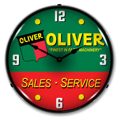 "Oliver Tractor Sales and Service ""Finest in Farm Machinery"" 14"" LED Wall Clock"