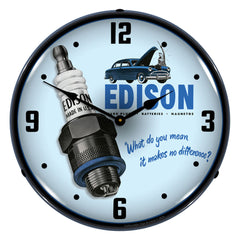 "Edison Spark Plugs 14"" LED Wall Clock"