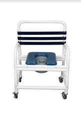 Mor-Medical Deluxe New Era Infection Control Shower Commode Chair with Commode Pail