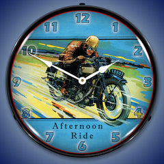 "Afternoon Ride 14"" LED Wall Clock"