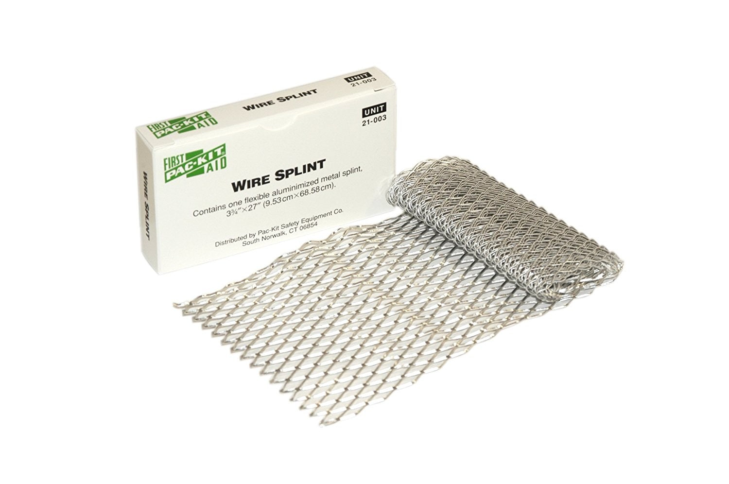 "First Aid Only Aluminized Flexible Metal Wire Splint, 27"" Length X 3-3/4"" Width, 1 Per Box"