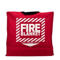 "First Aid Only 62"" x 8"" Wool Fire Blanket in Hanging Pouch"