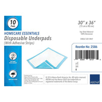Abena Essentials Disposable Underpad with Adhesive Strips (10 per Pack)