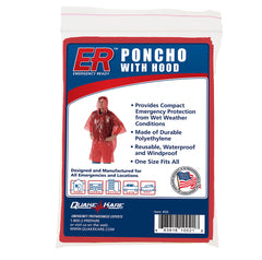 ER™ Emergency Ready Rain Poncho With Hood