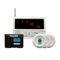Smart Caregiver Wireless CMU- 40 Components with 3 Nurse Call Buttons and LCD Pager with Reset Button System